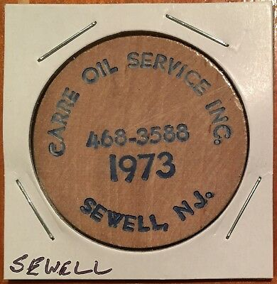New Jersey Wooden Nickel 1973 – Sewell – CARRE OIL SERVICE, INC. - Free Shipping