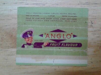 !!!RARE!!! Vtg 1950's Anglo Chewing Gum Wrapper Fruit