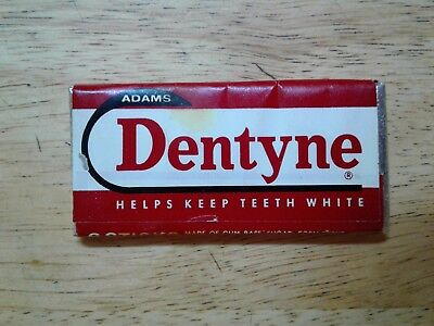 Vtg <RARE> 1950's American Cicle Adams Chewing Gum Wrapper - Sealed Pack Dentyne