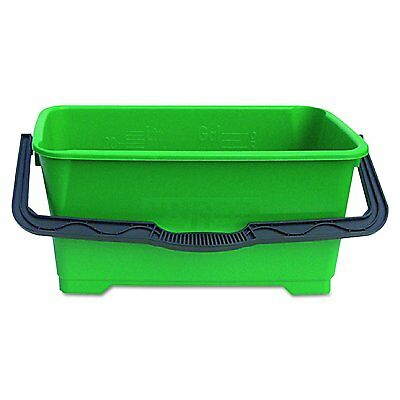 """Unger QB220 6 gallon Pro Bucket Fits 18"""" Washer, Green with Black Handle"""