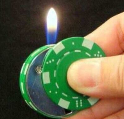 Poker Chip Lighter Butane $5000 Casino Style Playing Chip Refillable  NEW