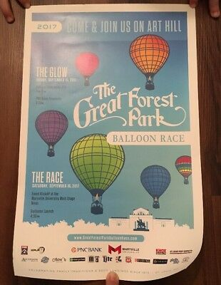 "Official Poster Great Forest Park Balloon Race 2017 11"" X 17"""