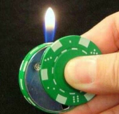Poker Chip Lighter Butane $100 Casino Style Playing Chip Refillable  NEW