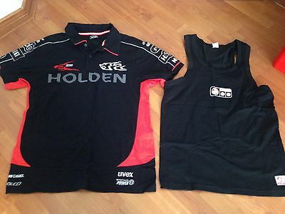 MENS HOLDEN RACING TEAM Shirt Official Size L + HOLDEN Sleepwear Shirt Sz L