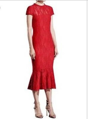 Ginger & Smart Manhattan Dress in Red Size 8 RRP $749