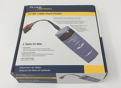 New Fluke Networks Ts100 Cable Fault Finder BNC/ Banana/ ABN Clip 26500500
