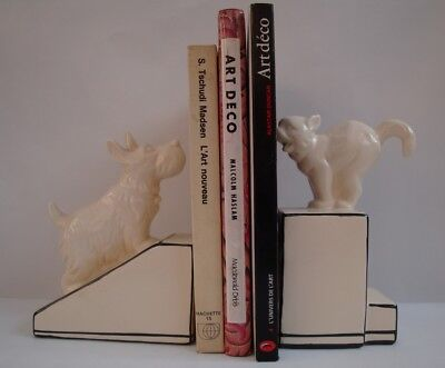 Bookends Figurine Dog Cat Wildlife Art Deco Style Art Nouveau Style Porcelain