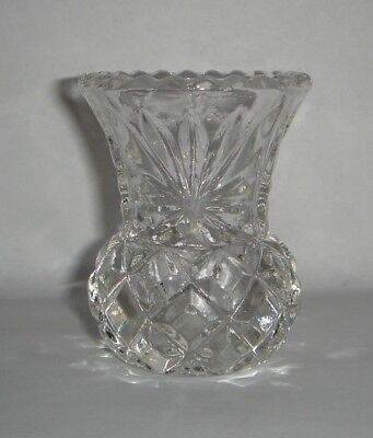 Classic Thistle Bud Vase Clear Glass ideal for Dressing Table / Tray