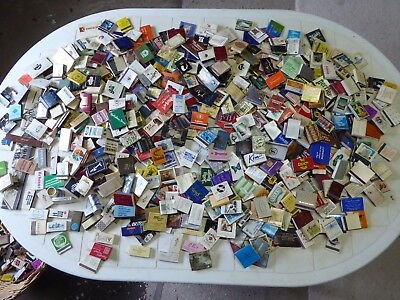 Vintage Matchbooks & Boxes,  over 950 in all;  variety; old; collectable