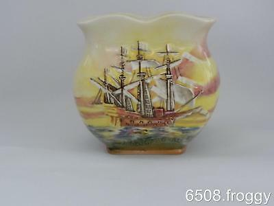 Early ROYAL DOULTON **FAMOUS SHIPS** D5957 - Ark Royal - POSY VASE - Excellent!