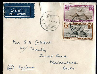 Egypt cover from HMS Warspite to UK dated 27Ju39