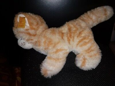 Vintage Steiff Lizzy 2728/17 Ginger & White tabby cat standing plush cuddly toy