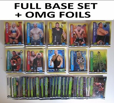 Full Base Set + OMG Foils = 313 Cards Slam Attax 10 10th Edition Collection