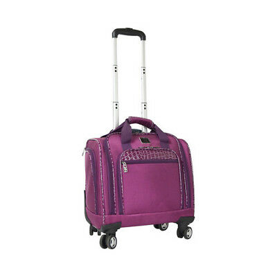 """Travelers Club Unisex  16"""" Rolling Under-Seater Dual-Spinner Briefcase"""