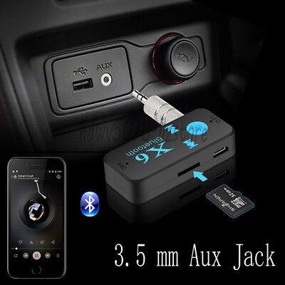 3.5mm Wireless Car USB AUX Bluetooth Receiver Adapter Audio For Home Stereo PC