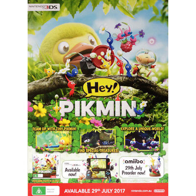 Hey Pikmin POSTER 84x59cm NEW * official game promo item