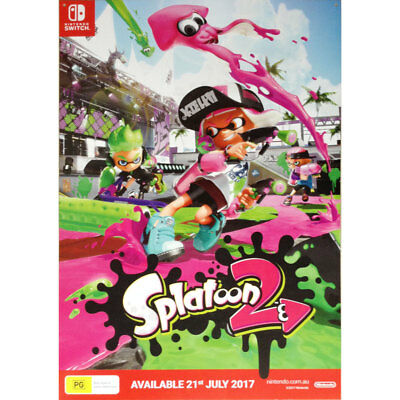 Splatoon 2 Squid Sisters POSTER 84x59cm NEW * official game promo item
