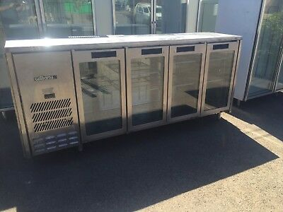 Williams Back Bar Fridge 4 Glass Doors EXCELLENT WORKING CONDITION.