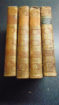 1811 Leather Bound The Life Of Samuel Johnson By James Boswell In Four Volumes