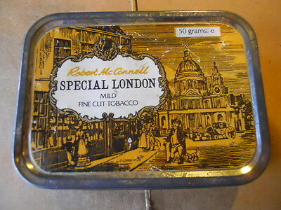 VINTAGE Mild Tobacco Tin Robert McConnell SPECIAL LONDON