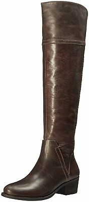 Vince Camuto Women's Bendra Side Zip Leather Riding Boots Bomber Grey