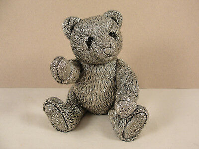 Large Country Artists Silver Model TEDDY BEAR. c2000