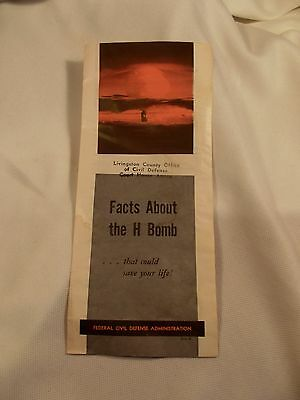 "1957 Pamphlet, ""Facts About The H Bomb"" Civil Defense,  Duck and Cover"