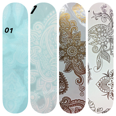 Gold, Sliver and White Henna Lace Body art Hand, Arm Tamporary Tattoo Stickers
