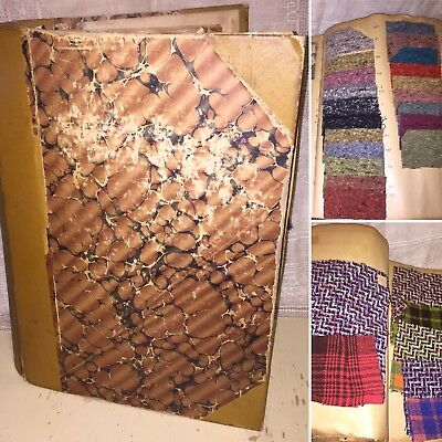 Large Vintage Wool Fabric Tailors Fabric Sample Book Swatch Textile History 1930