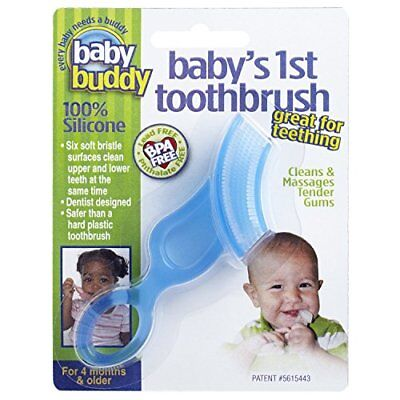 Baby Buddy Baby's 1st Toothbrush Teether—Innovative 6-Stage Oral Care System ...