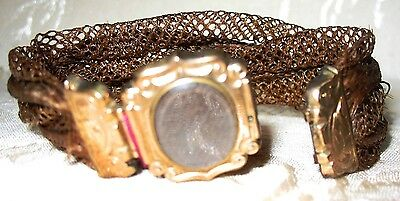 1800's Victorian Mourning Jewelry, Woven Hair Bracelet, Extraordinary Weave!