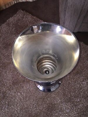 silver plated vase large