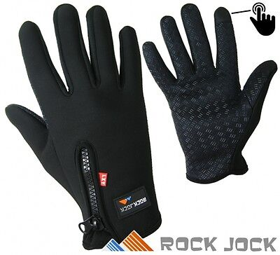 """Mens Ladies Sports Activity """"Touchscreen"""" Fleece Insulated Gloves by RockJock"""