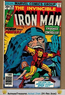 Invincible Iron Man #90 (9.0) VF/NM By Jim Shooter 1976 Bronze Age Key Issue