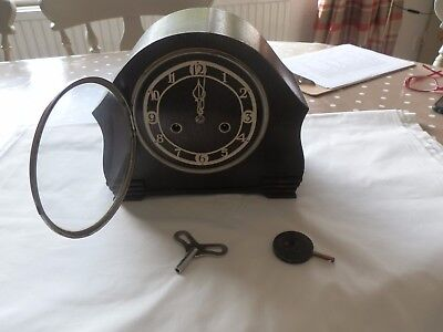 Vintage Enfield Striking Mantel Clock Working with Key