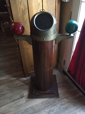 Vintage Nautical Binnacle Ship Compass With Kelvin Ball