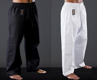 NEW Martial Arts Karate Pants - Rising Sun BLACK Gi Pants Judo Taekwondo Pants
