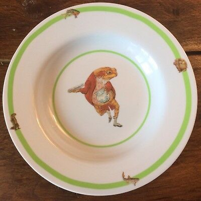 assiette creuse mélamine Beatrix Potter grenouille Jeremy Fisher