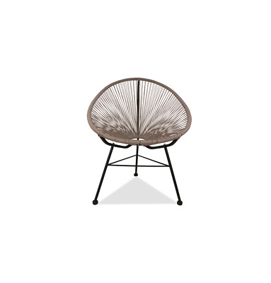 GFURN Reproduction of Acapulco Chair - Light Grey