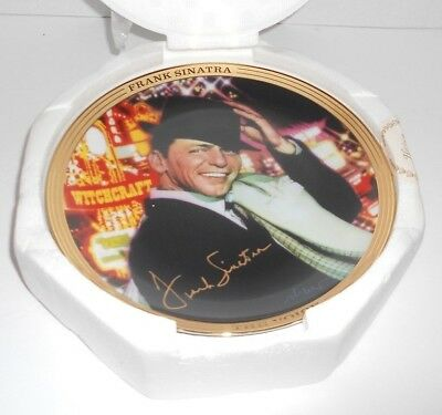 """Franklin Mint Frank Sinatra Witchcraft Musical Plate Limited Edition MIB 9"""""""
