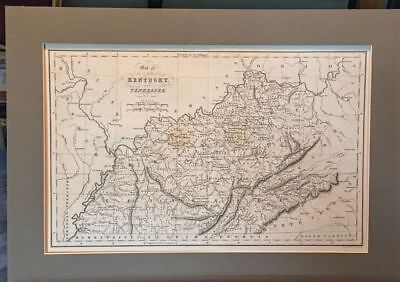 Antique Map United States KENTUCKY and TENNESSEE (1831)