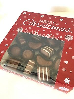 4 x CHRISTMAS Petit 4 four window Boxes SWEET Treat cakes chocolates mince pies