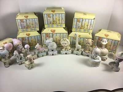 Precious Moments Bday Train 0-8 Yrs Old +Baby Boxes VTG Plus 4 Plus Baby 13 lot