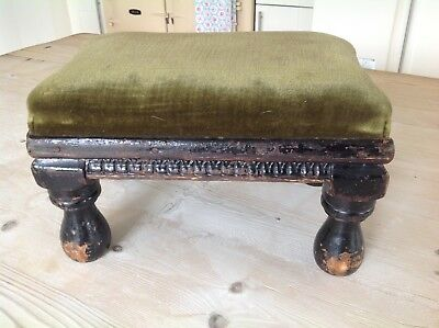 Antique foot stool.country house shabby.