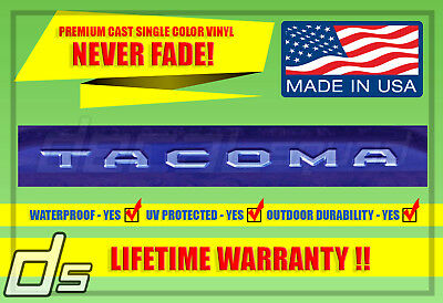 Toyota Tacoma 2016 2017 2018 Tailgate Vinyl Decal Inlay Insert TRD Letters