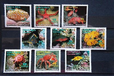 Fische 18 fish Costa Rica Meerestiere sea animals Fauna postfrisch ** MNH