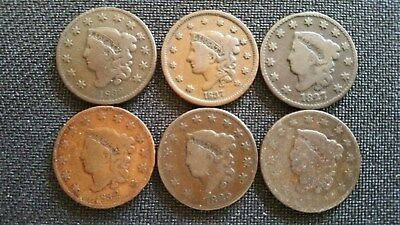 LARGE CENT COLLECTION  Lot #10  6 pcs , assorted dates and varieties