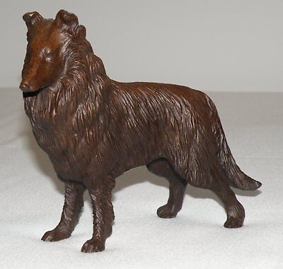 Vintage Red Mill Collie Figurine Handcrafted From Pecan Shells
