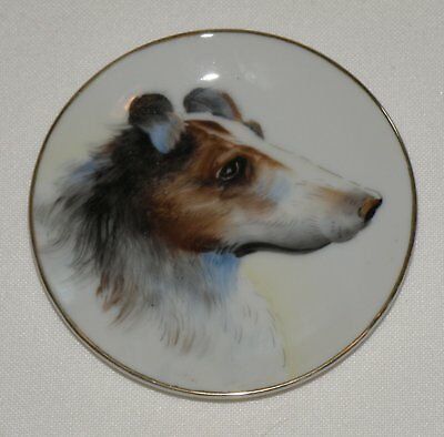 Vintage Miniature Porcelain Collie Plate
