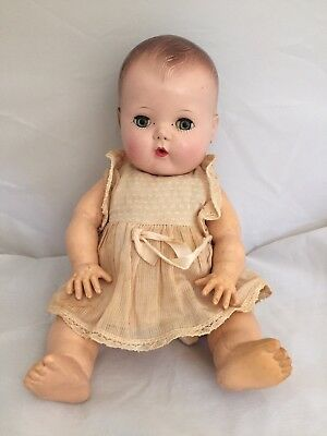 """Vintage American Character AME Baby Girl Doll 12"""""""